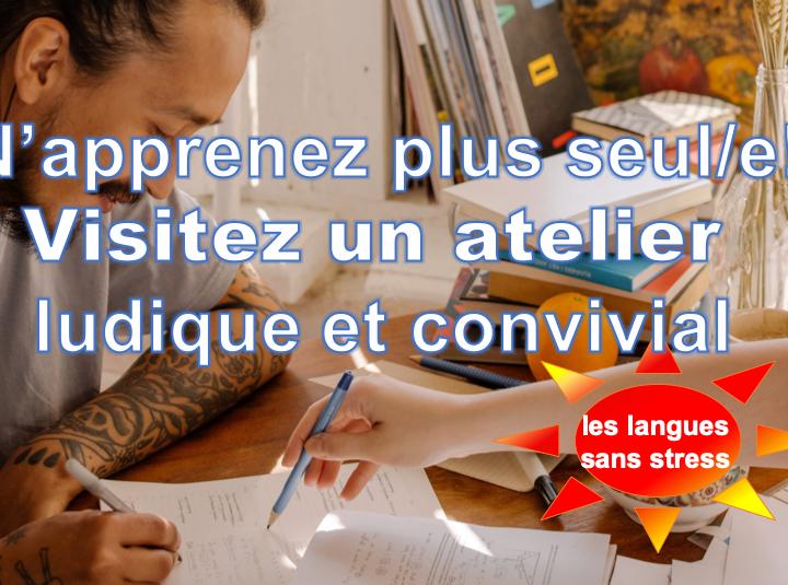 Atelier jeux et conversation pour s'améliorer en langues sans stress – éligible CPF