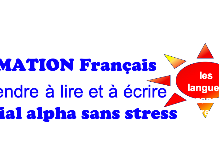 Français apprendre à lire et à écrire – alphabétisation sans stress
